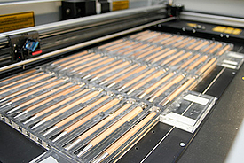 Batch production on laser systems