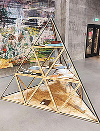 Laser cutted pyramid by Stykka