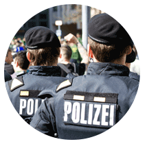 Efficient usage of CO₂ lasers for security services, police and military