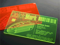 Business card - acrylic laser engraving