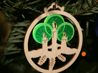 Christmas decorations - acrylic + plywood laser cutting + engraving