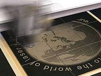 Tile - granite laser engraving