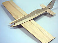 Model airplane - balsa laser cutting