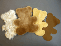 Teddy bear - plush laser cutting