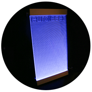 Backlight panel of acrylic