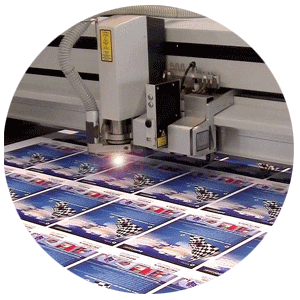 Laser cutting of printed textile