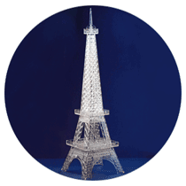 Laser cut eiffel tower of acrylic