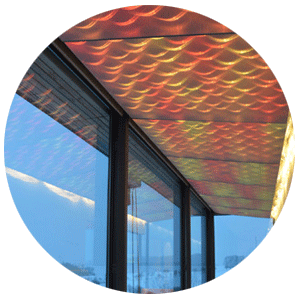 Ceiling coverings in restaurants