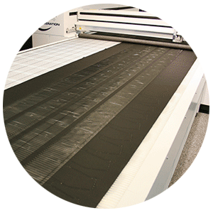Polyester fabric on the Conveyor System