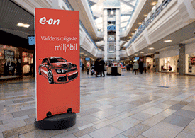 Advertising stand up display