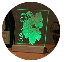 LED backlit advertising display of PMMA (or rather Plexiglas ®, Perspex ®, Acrylite ®)