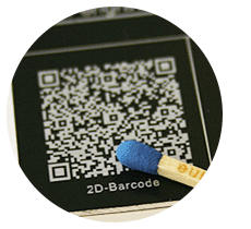 Permanent and abrasion-resistant marking of barcodes
