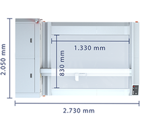 Technical specifications of Laser Cutter M-800