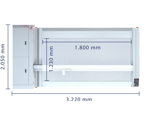 Technical specifications of Laser Cutting System L-1200