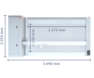 Dimensions of Laser Cutter Machine XL-1200