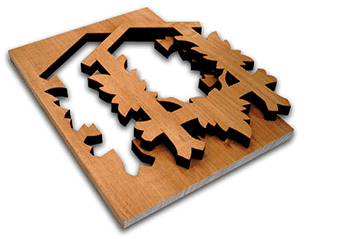 For applications such as Wood, MDF