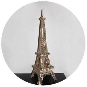 Wooden Eiffel Tower cut using laser