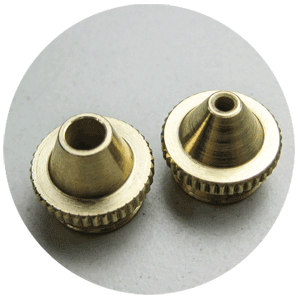 Cutting nozzles with diameter of 2.0 or 4.0 mm
